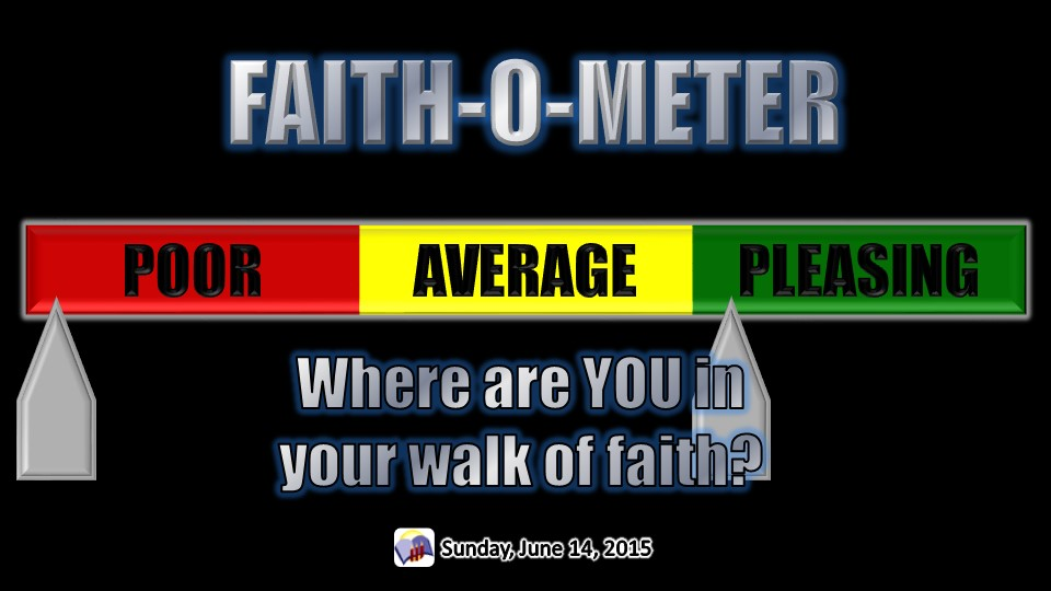 Faith-O-Meter, a sermon from Word of Light Community Church